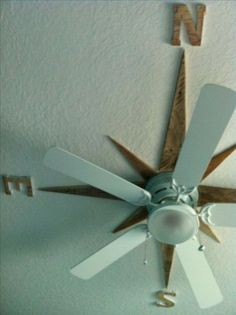 I made a nautical star on the ceiling around the fan using pallet wood. This Nautical Star Ceiling Accent for Ceiling Fans will look great in a beach house bedroom. Beach House decoration ideas at its finest. Beach House Decor, Diy Home Decor, Beach Houses, Ocean Home Decor, Beach Cottages, Living Room Designs, Living Room Decor, Living Spaces, Small Living