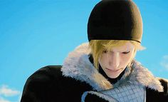 Prompto crying breaks my heart he doesn't deserve this also can we just take a look at how hot his outfit is here like damn Prompto's fashion always on point