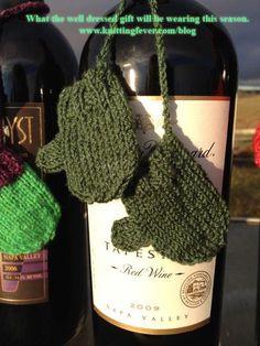 Green wine mitts wm