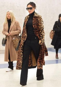 0b458f674822 Victoria Beckham style for the fall in a leopard coat | Life Without  Louboutins Snow Fashion