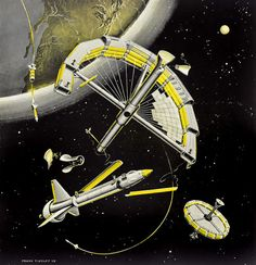Frank Tinsley 1958 - Space station construction