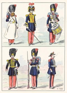 French; Imperial Guard, Grenadiers, 1860 from Hector Large's Le Costume Militaire Vol III