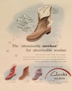0ebca3aac Clarks Mid 50s Ad for Ladies Boots👢