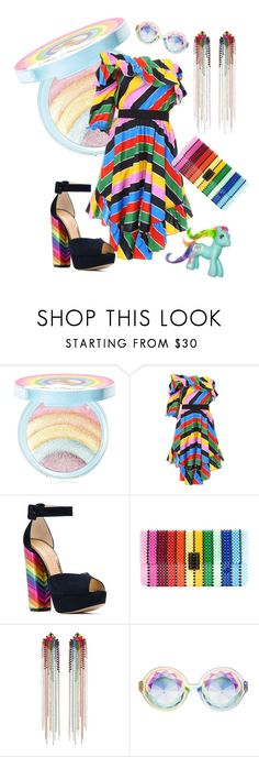 """""""Untitled #2081"""" by muffinsangria ❤ liked on Polyvore featuring Too Faced Cosmetics, Philosophy di Lorenzo Serafini, Charlotte Olympia, Del Ducä, Mimi Wade and My Little Pony"""