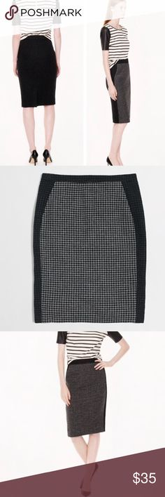 J.Crew Colorblock pencil Skirt Like new! No flaws or signs of wear! Versatile and easy to wear casual or to work! J. Crew Skirts