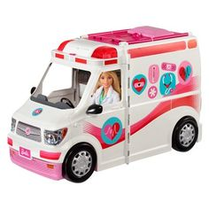 Buy Barbie: Care Clinic - Vehicle & Playset at Mighty Ape NZ. Barbie® doll comes to the rescue with her care clinic vehicle – just press the button to sound the siren! Lift the lever at the back of the colorful . Mattel Barbie, Barbie Van, Barbie Website, Barbie Playsets, Rescue Vehicles, Toy R, Barbie Dream, Doll Accessories, Dollhouse Accessories