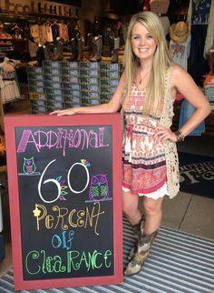 Additional 60% off all clearance! Come see us! #gooddeals #cutestuff #sothread #Austin  Southern Thread Austin, TX.