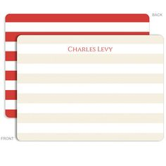 Personalized Red Rugby Stationery