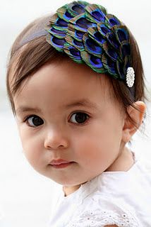 Chic baby headband - Only put headbands on your baby if they have hair!!!!!!! Also, this baby looks almost identical to my daughter.