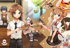 Credits to the artist Pokemon Manga, Cute Pokemon, Black Pokemon, Pokemon Ships, Pokemon Pictures, Cute Pictures, Fantasy Art, Black And White, Artist
