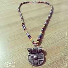 Beaded Fine Silver Spiral Soul Lock Necklace via TGXC. Click on the image to see more!