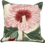 Needlepoint Syrian Hibiscus Pillow