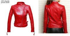 Arrow Female Motorcycle Long Sleeve Red Jacket – ofvbgy