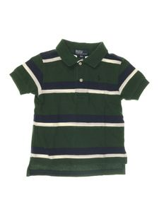 Camiseta Polo Verde Escuro Listras Infantil