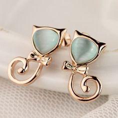 Cat - eye stud earring female earrings accessories jewelry christmas gift j509 on AliExpress.com. $12.41