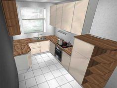 U form küchen  forma-358-wei-abs-kernahorn-ohne-gerte-ovp-u-form-nobilia-l ...