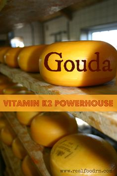 Gouda: High in Vitamin List of best foods for this powerhouse vitamin Diabetic Recipes, Whole Food Recipes, Healthy Recipes, Healthy Snacks, Gouda, Vitamin K2, Health And Nutrition, Complete Nutrition, Health Talk