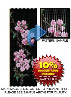 Japanese Blossom PEYOTE Pattern Beaded by DragonsLairPatterns, £3.95