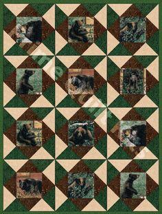 Bear Country Pre-Cut Quilt Kit