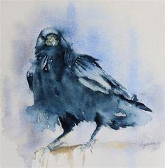 """""""The Raven"""" - Original Fine Art for Sale - � HyeSun Chung"""