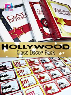 Hollywood Oscars Class Decor Pack -  If you're interested in decorating your classroom for a bunch of superstars, then be sure to check out this pack filled with decorations and content material all with a fabulous Hollywood theme. $