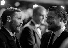 Tom Hardy and Leonardo DiCarprio