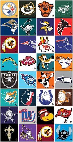 Disney NFL teams! LOL