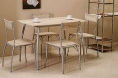 Jídelní set v moderním dekoru dub Teak, Dining Table, Furniture, Inspiration, Home Decor, Tables, Chairs, Decoration Home, Eten