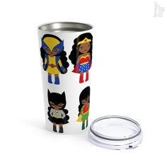 Black Girl Superhero Travel Mug - The Trini Gee