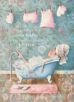 Soap-bubble Fairy A3 Print