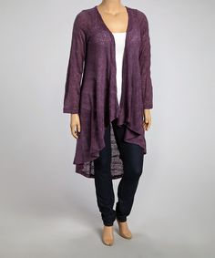Purple Stripe Duster