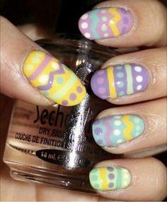 Easter egg nails!! #girlslife #easter