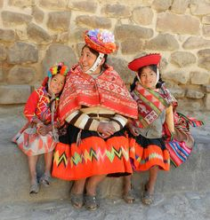 A mother and her daughters in Ollaytaytambo, Peru Picture: Kathy Bowe of Middlewich, Cheshire