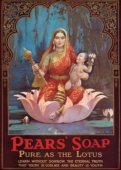 A full-page advertisement for 'Pears' soap, taken from the 1929 edition of 'The Times of India,' Vintage Advertising Posters, Old Advertisements, Vintage Posters, Vintage Labels, Vintage Ads, Vintage Images, Indian Prints, Indian Art, Indian Style
