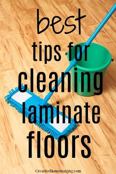 The BEST tips for cleaning laminate floors. Some of my favorite floor cleaning h… The BEST tips for cleaning laminate floors. Some of my favorite… Deep Cleaning Tips, House Cleaning Tips, Cleaning Solutions, Spring Cleaning, Cleaning Hacks, Cleaning Products, Diy Hacks, How To Clean Laminate Flooring, Best Laminate Floor Cleaner