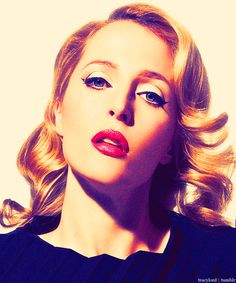Gillian Anderson....  @Sylvia Fox-Smith I will loose the weight and grow out the hair...and then YOU make me look like this! :) Deal?
