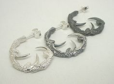 Hey, I found this really awesome Etsy listing at https://www.etsy.com/listing/227804287/three-point-owl-talon-hoops-sterling