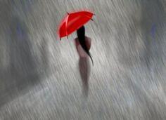 red umbrella.