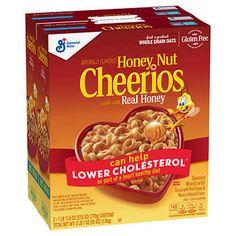 Cheerios Cereal, Honey Nut Cheerios, Oat Cereal, Breakfast Cereal, Free Breakfast, Crunch Cereal, Gluten Free Cereal, Gluten Free Oats, General Mills Cereal