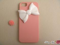 iPhone 5 case, cute iPhone 5 case, bow iPhone 5 case, unique iPhone 5 case, custom iPhone 5 case cover. $17.99, via Etsy.