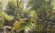 peder mork monsted paintings - Cerca con Google