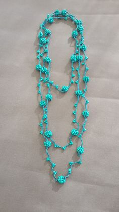 crochet berry beaded necklace, handmade necklace, jewelry handmade,bohemian jewelry,bridesmaid gift,gift for her,OOAK