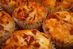 Baconmuffins med ost og timian – Herremad