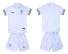 France Blank 2012/2013 White Away Kid Soccer Country Jersey! Only $19.50USD