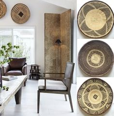 Elysian-Interiors ♕Simply divine #interiordesign ~ African baskets