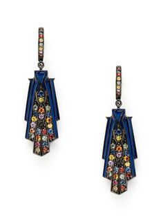 Wing Drop Blue Enamel Earrings by M.C.L. By Matthew Campell Laurenza on Gilt.com