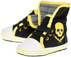 Inked Boutique - Skull & Bolt Sneakers Kid's Shoes Crib Shoes Punk http://www.inkedboutique.com