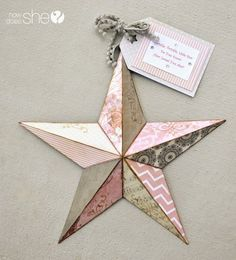"""DIY metal stars mod podged with scrapbook paper and CUTE quotes """"twinkle twinkle little star, do you know how loved you are? Diy Craft Projects, Diy Home Crafts, Cute Crafts, Craft Tutorials, Projects To Try, Craft Ideas, Star Diy, Metal Stars, Star Wars"""