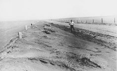 """This is a picture of the drought in Saskatchewan during the great depression. During the """"dirty thirties"""", farms were greatly affected. Whether because of the dramatic drop of wheat prices or natural disasters, farmers ended up abandoning their farms and joining the group of unemployed men."""
