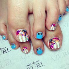 Pretty Pedicures, Pretty Toe Nails, Cute Toe Nails, Pretty Toes, Toe Nail Art, My Nails, Cute Pedicure Designs, Toenail Art Designs, Fingernail Designs